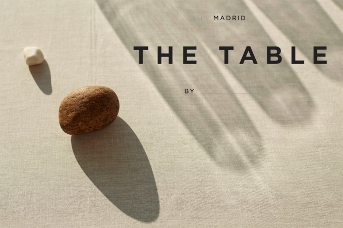 the table by