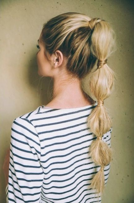 bubble ponytail'